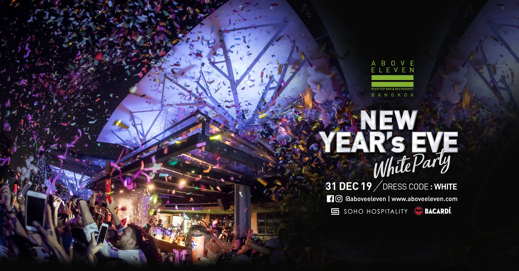 New Year's Eve 2020, celebration, new year, countdown party, countdown 2020 in bangkok, bangkok new year eve, above eleven, soho hospitality