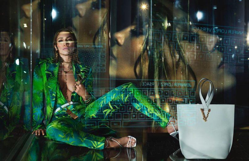 Versace, Versace SS20 campaign, Jennifer Lopez., JLO, Kendall Jenner, jungle-print dress, Grammy