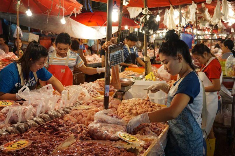 Bangkok local fresh market