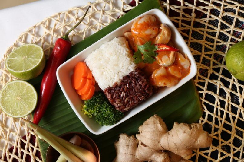 Bangkok Airways in-flight meal Maldives