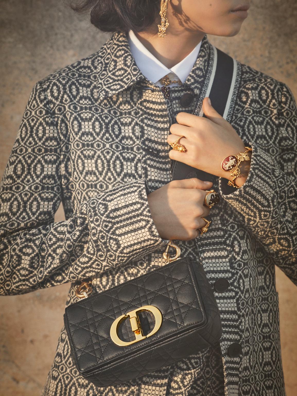 Dior Caro with fabric straps
