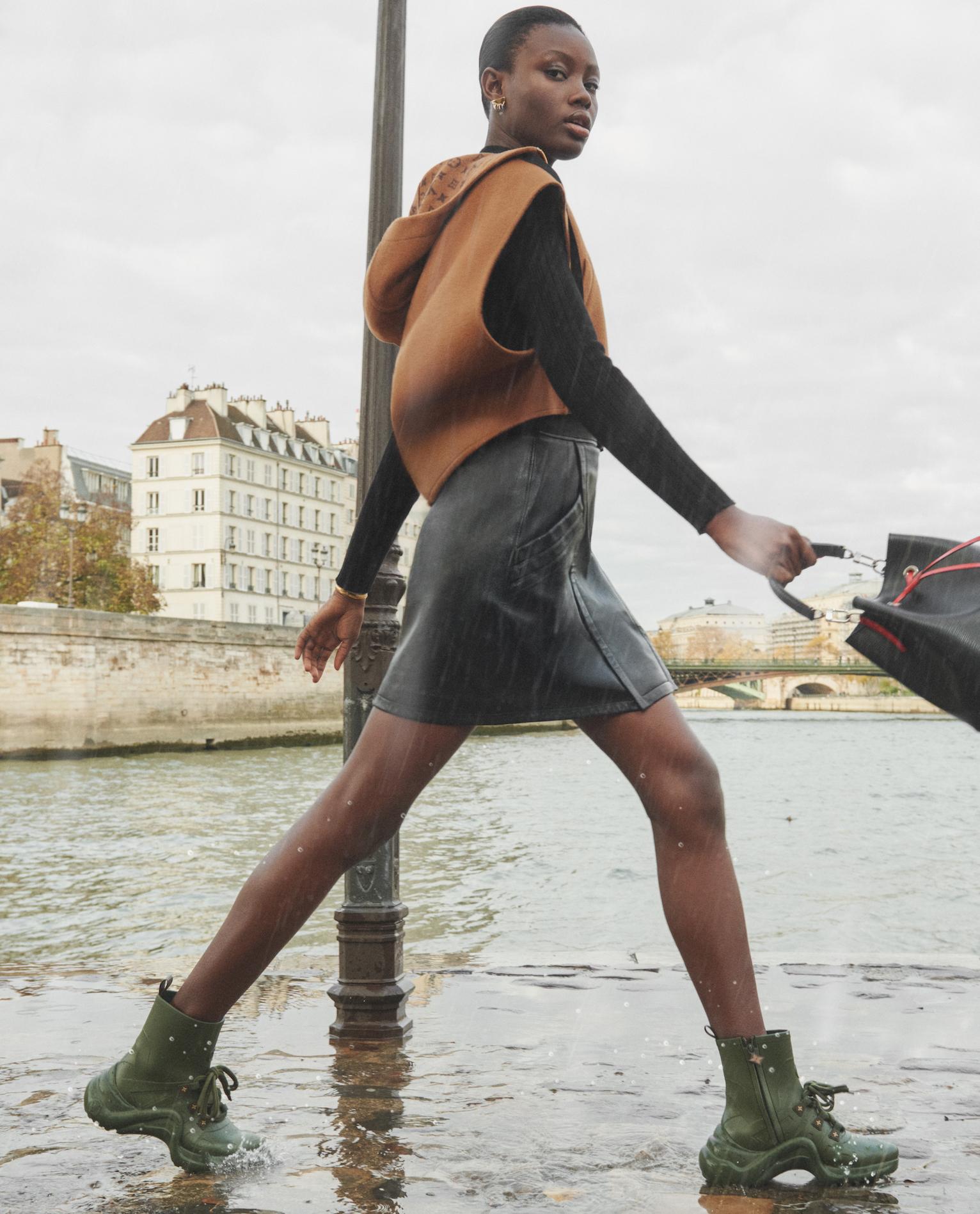 The Louis Vuitton Rain collection - Archlight sneaker boots