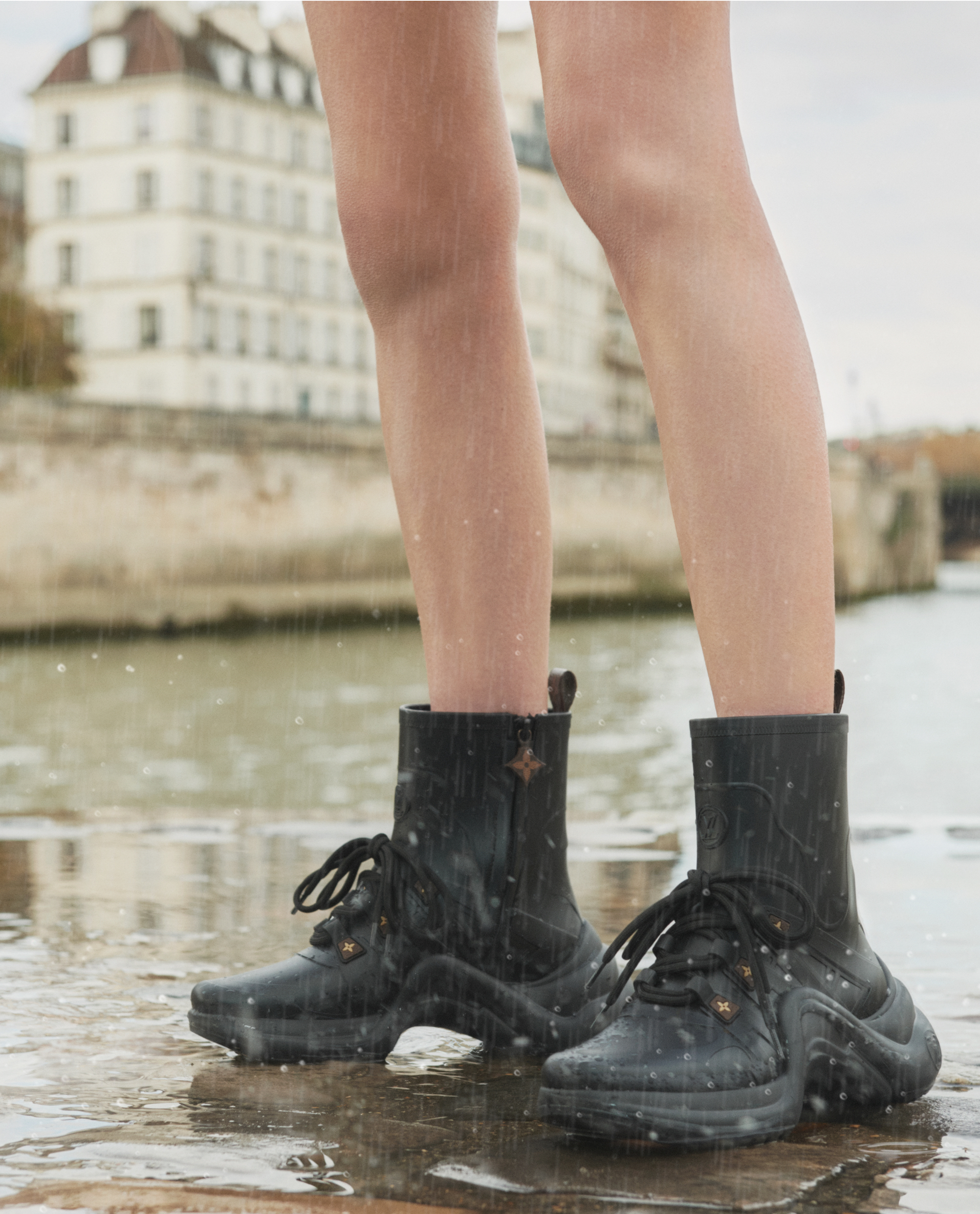 Louis Vuitton Archlight rubber sneaker boots