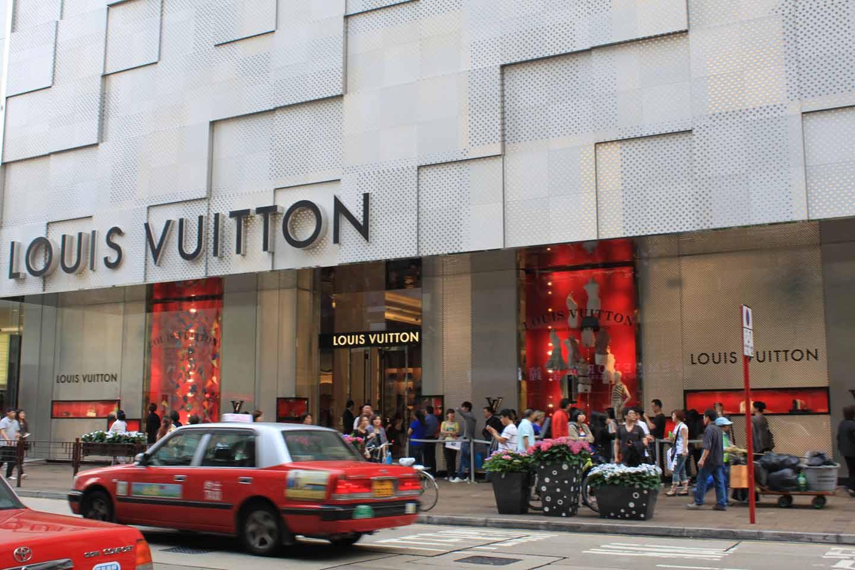 Louis Vuitton store in Hong Kong
