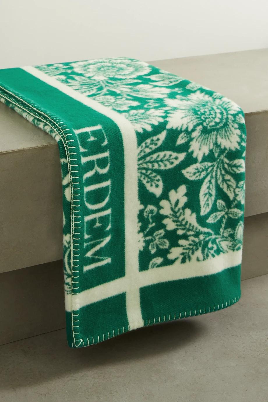 Erdem cashmere and merino wool blanket (Photo credit: Net-a-Porter)